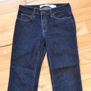 Gap jeans  dark wash boot cut capri 6 stretch